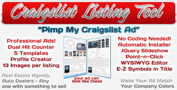 CraigsList Listing Tool - CodeCanyon Item for Sale