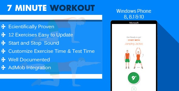Windows Phone - 7 Minute Workout - CodeCanyon Item for Sale