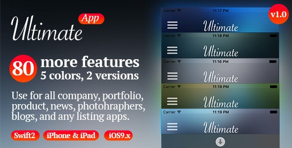Ultimate App - iOS Template Swift - CodeCanyon Item for Sale