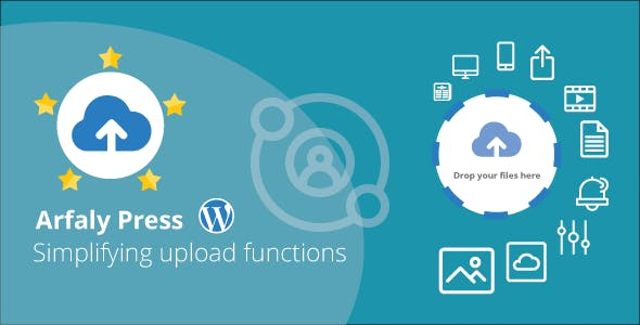 Arfaly Press - Frontend Wordpress multimedia file uploader