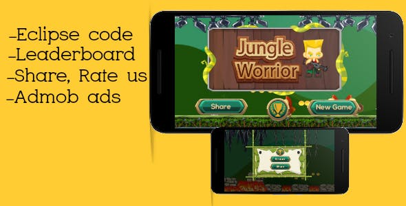 Jungle worrior - Admob and Leaderboard