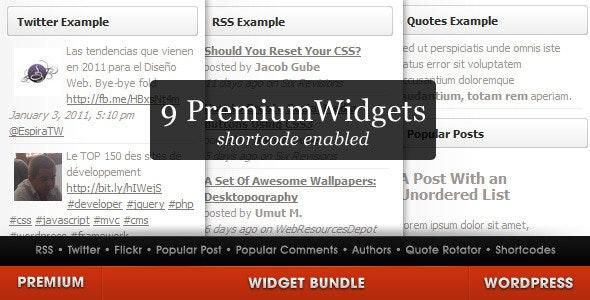 WordPress Widget Bundle - CodeCanyon Item for Sale