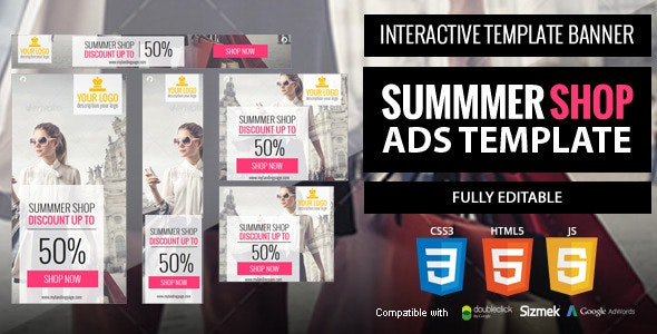 Summer-shop Ads Template - CodeCanyon Item for Sale