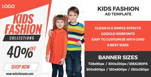 Kids World - GWD HTML5 Ad Banners - CodeCanyon Item for Sale