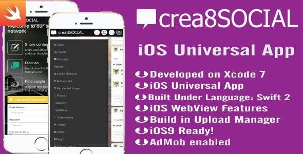 crea8SOCIAL iOS App