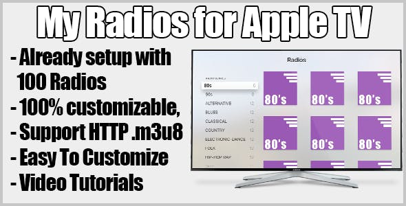 My Radios Streaming Radio For Apple Tv