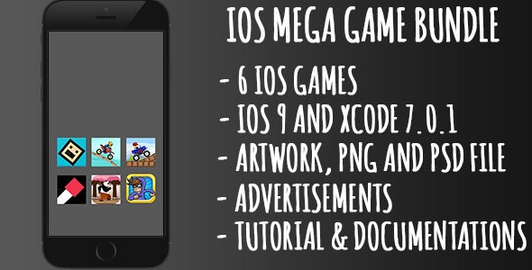 IOS Games Bundle - 6 IOS Games  - CodeCanyon Item for Sale