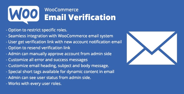 WooCommerce Email Verification - CodeCanyon Item for Sale