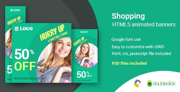 Shopping | HTML5 Google Banner Ad 5