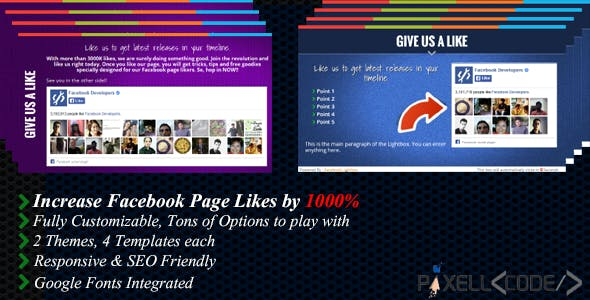 Facebook Lightbox - Boost Your Facebook Likes