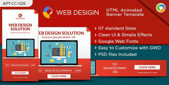HTML5 Web Design Banners - GWD - 7 Sizes - CodeCanyon Item for Sale