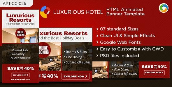 Hotel & Resort HTML5 Banners - Google Web Designer - CodeCanyon Item for Sale