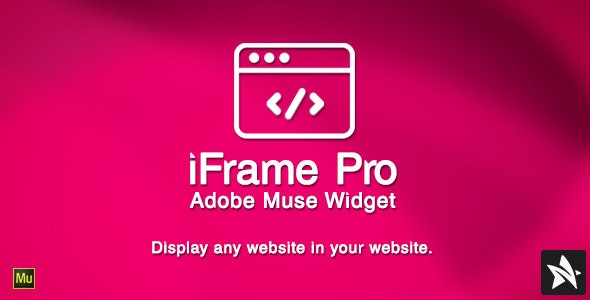 iFrame Pro Widget for Adobe Muse - CodeCanyon Item for Sale