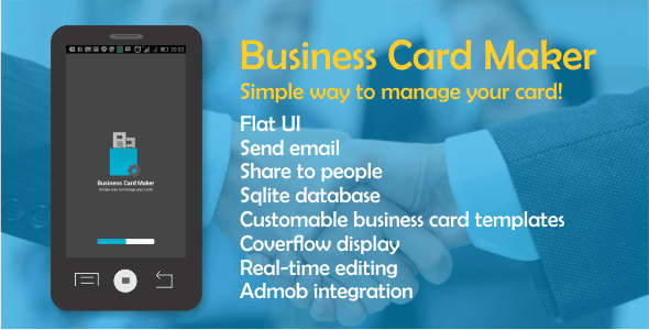 Business Card Maker with Admob