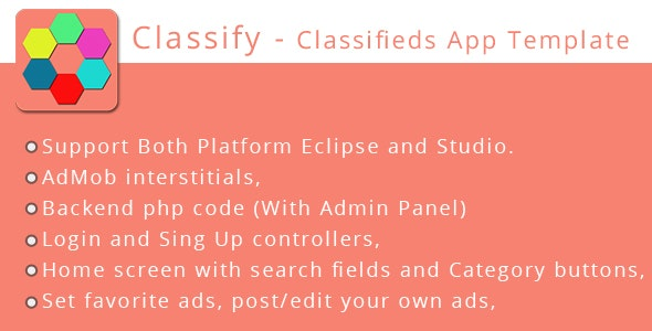Classify -  Classifieds App Template  - CodeCanyon Item for Sale