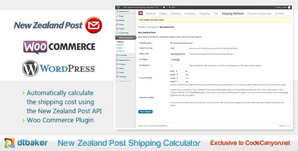 WooCommerce New Zealand Post Shipping Calculator