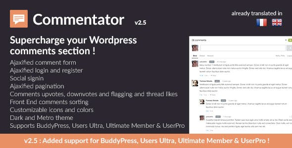 Commentator Wordpress Plugin