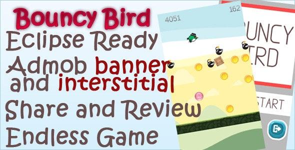 Bouncy Bird + AdMob + Powerups+Splash screen  - CodeCanyon Item for Sale