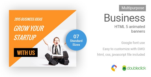 Business | HTML5 Google Banner Ad 13  - CodeCanyon Item for Sale