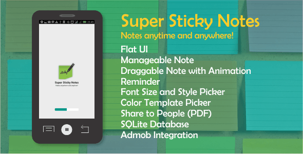 Super Sticky Notes with Admob