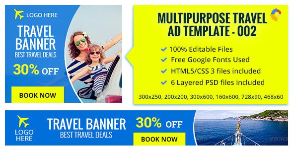 GWD | Travel Banner - 002 - CodeCanyon Item for Sale