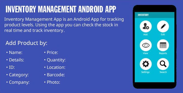 Inventory Management Android App - CodeCanyon Item for Sale
