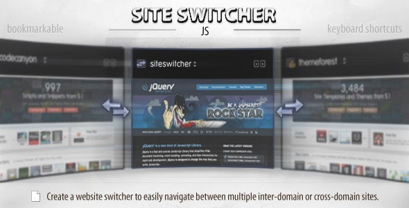 Site Switcher (jQuery) - CodeCanyon Item for Sale