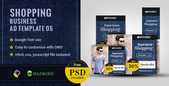 Shopping | HTML5 Google Banner Ad 6 - CodeCanyon Item for Sale