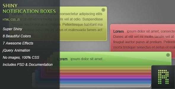 Shiny Notification Boxes
