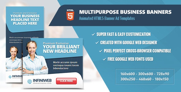 Multipurpose Business Banners - HTML5 Animation - CodeCanyon Item for Sale
