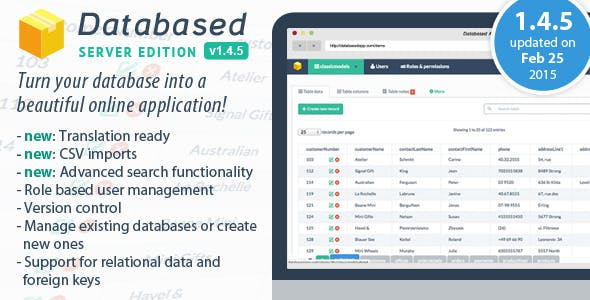 Database Application Platform        Nulled