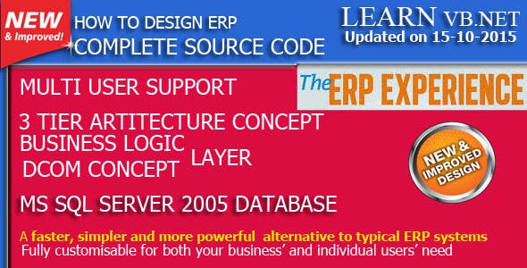 Learn How to Develop ERP (Source Code)