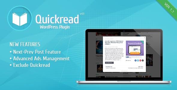 Wordpress Quick Read Plugin