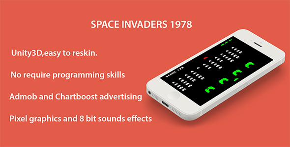 Space Invaders 1978 - iOS + Admob + Chartboost