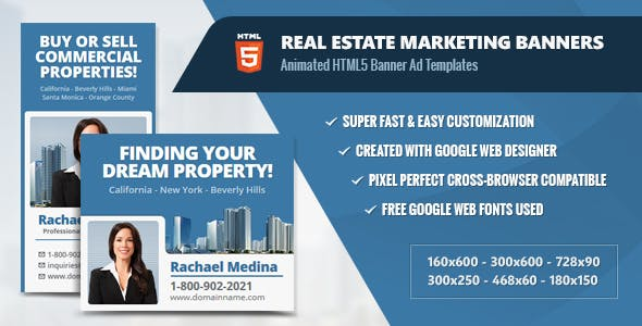 Real Estate Marketing Banners - HTML5 Animated Ads