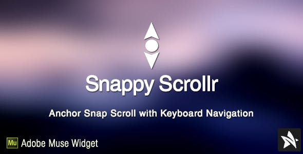 Snappy Scrollr Widget for Adobe Muse