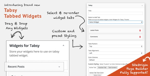 Tabsy Tabbed Widgets Add-on - CodeCanyon Item for Sale