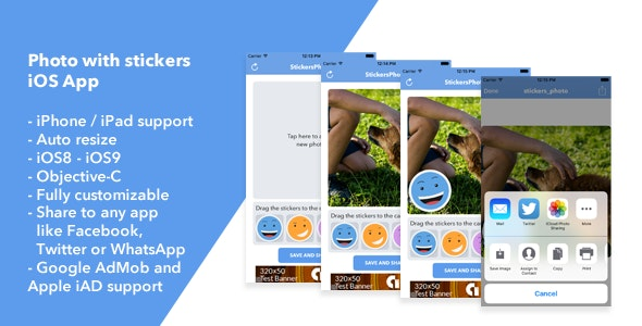 Photo Stickers App - CodeCanyon Item for Sale
