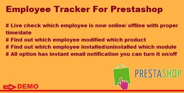 Employee Tracker For Prestashop