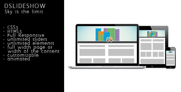 DSlideshow - Responsive animated layered slideshow