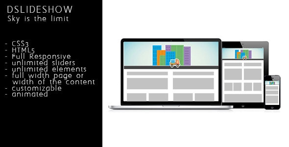 DSlideshow - Responsive animated layered slideshow - CodeCanyon Item for Sale