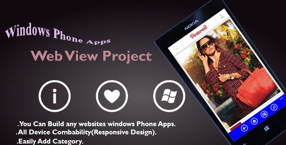 Windows Phone Apps  - Web view Project - CodeCanyon Item for Sale
