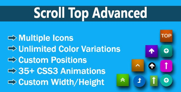Scroll Top Advanced - CodeCanyon Item for Sale