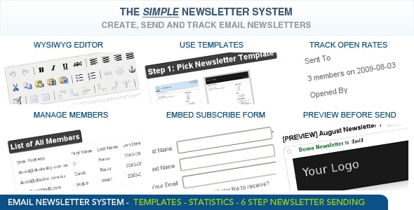 Newsletter System - CodeCanyon Item for Sale