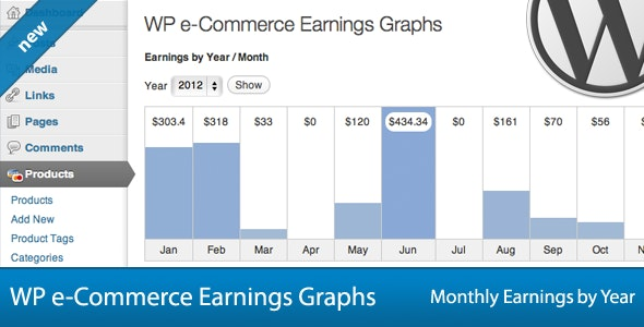 WP e-Commerce Earnings Graphs - CodeCanyon Item for Sale