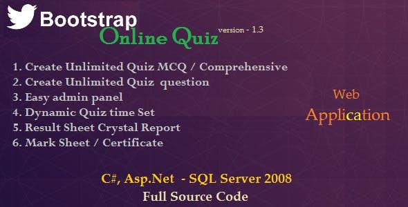 BootStrap Online Quiz - Asp.Net C#