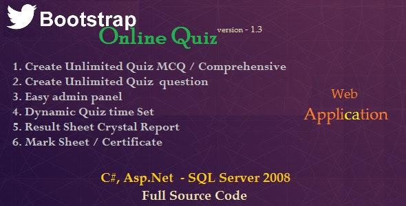 BootStrap Online Quiz - Asp.Net C# - CodeCanyon Item for Sale