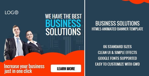 Rio Business Solutions HTML5 GWD Ad Banner - CodeCanyon Item for Sale