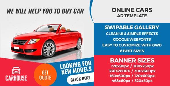 Rio Carz - HTML5 GWD Ad Banner