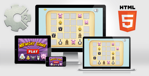 Memory Game - HTML5 Educational Game - CodeCanyon Item for Sale